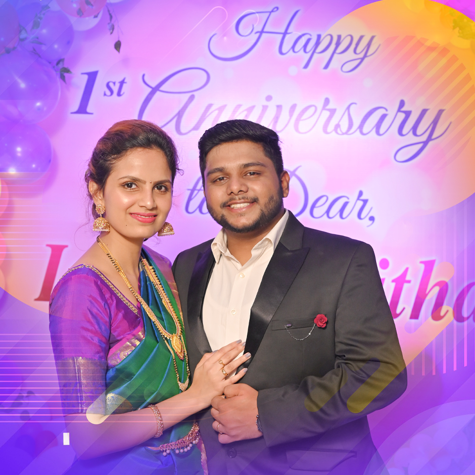 Happy 1st Wedding Anniversary to dear Bro Isaac Richard and Dr Anitha. May plenty of wishes come your way, Not just for a year but forever, together you stay!!! Happy wedding anniversary!!!