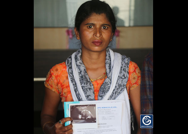Help Ashwini for The Surgical removal of her Uterine Fibroid which measures as large as 7.3 x 7.7 cms as they are financially poor and have requested for monetary help through Grace Ministry Charity Help Platform.