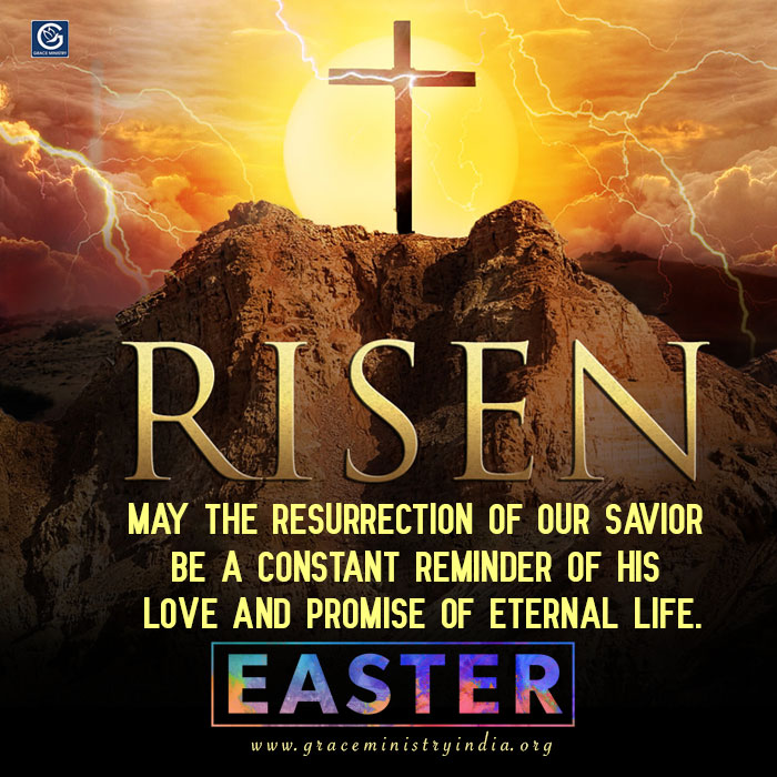 Grace Ministry Wishes you and all your loved ones a very Happy Easter. May the risen Christ bring you and your family abundant happiness. Have a blessed Easter.
