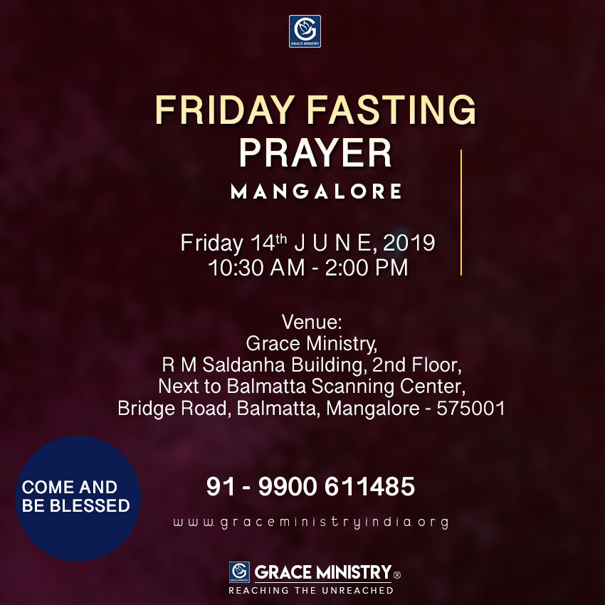 Healing and Deliverance Prayer in Mangalore by Grace Ministry  June