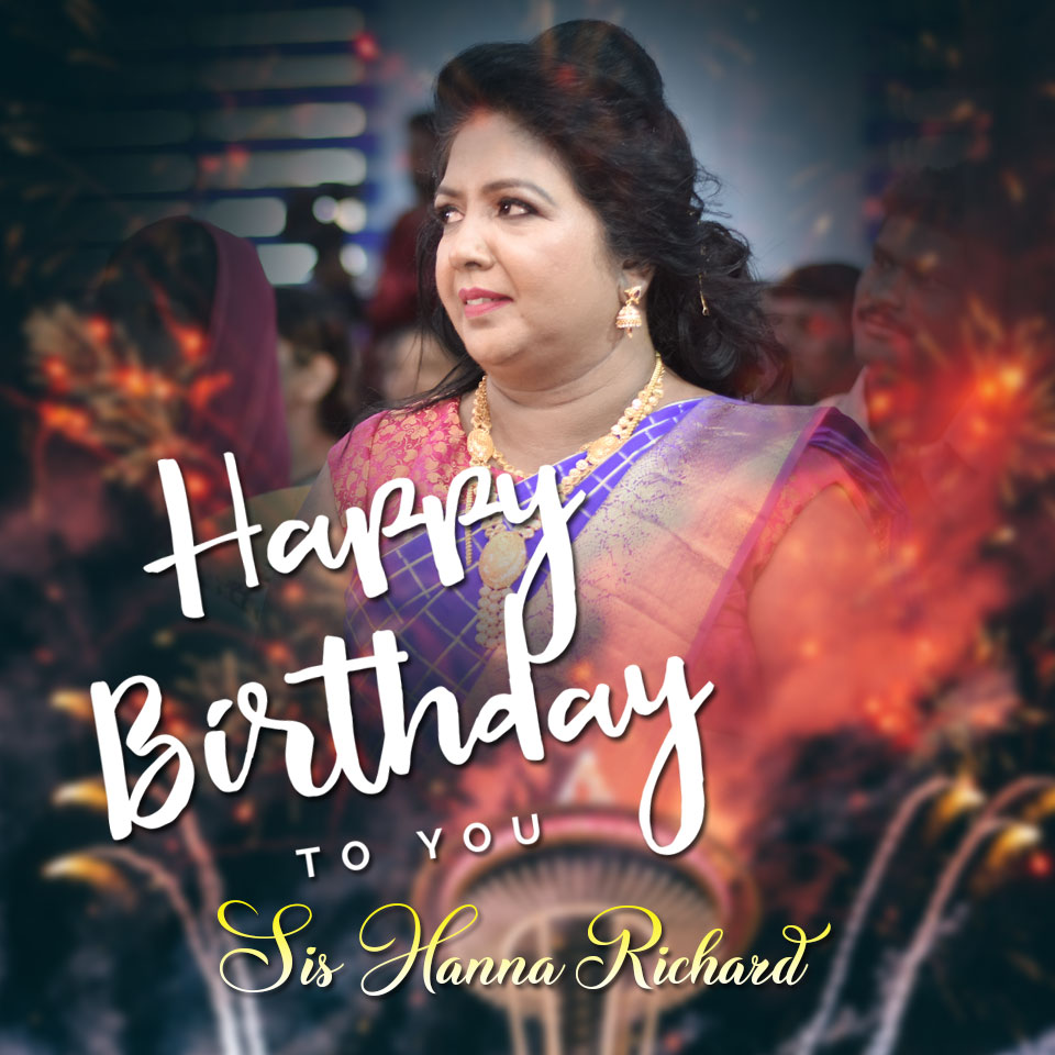 Powerful Intercessor Sis Hanna Richard turns 51 on Friday, 2019, with a myriad of wishes from family members, other Christian leaders, and devotees. Happy Birthday dear Sis Hanna Richard.