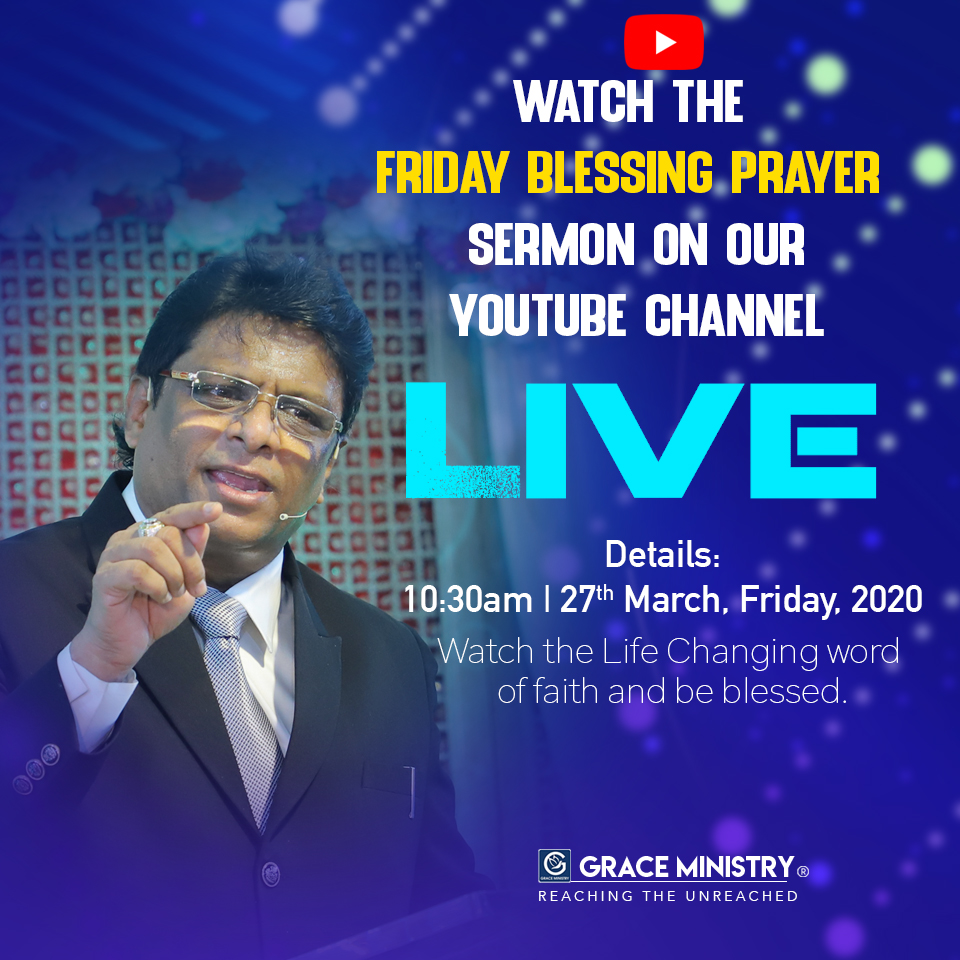 Watch the Live powerful Kannada sermon of Grace Ministry, Bro Andrew Richard on YouTube recorded on 27th March 2020. Watch, Share and be blessed.