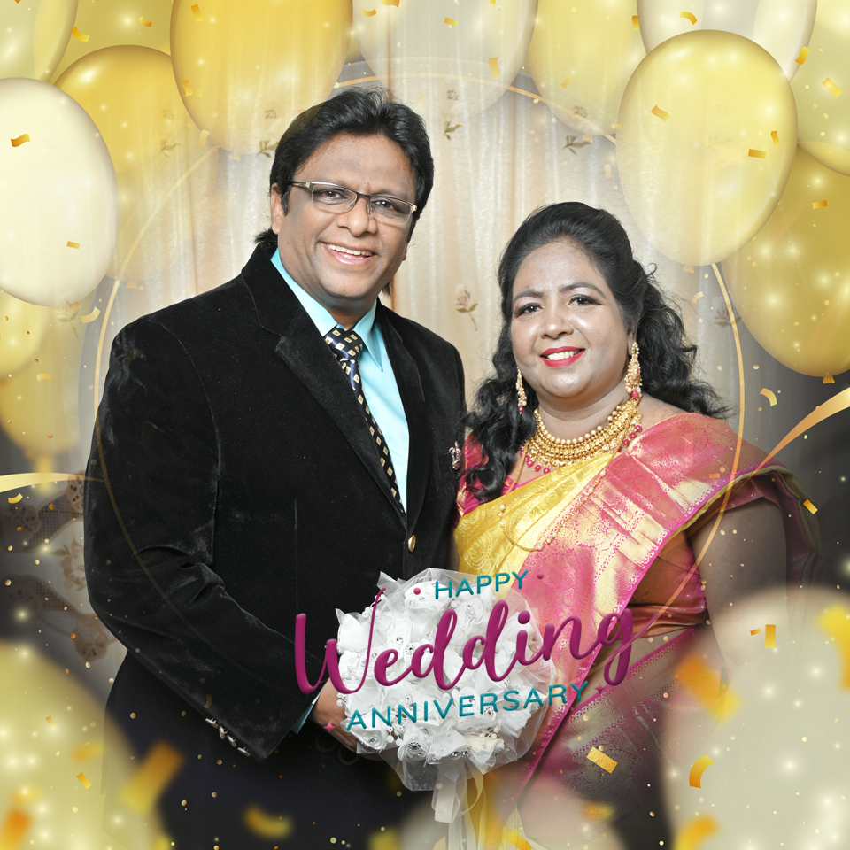 Wishing Bro Andrew Richard and Sis Hanna Richard a Happy Wedding Anniversary 2020. May your love grow stronger and inspire all. May, this lovely day, remind you of the love that made us believe in love.