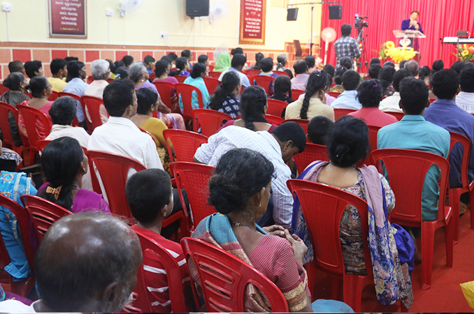 People thronged into the Night Vigil held at Prayer center by Grace Ministry in Mangalore here on Sep 2, 2017. Many received countless miracles, healing, and deliverance.