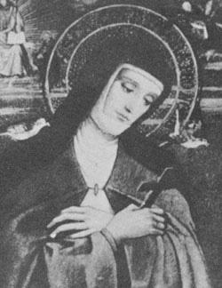 St Colette who was bron on 13 January 1381 was a French abbess and the foundress of the Colettine Poor Clares, a reform branch of the Order of Saint Clare, better known as the Poor Clares.