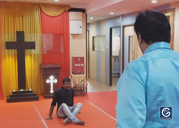 Youth who was extremely Demon Possessed for about 4 years receives instantaneous Deliverance in the Prayer Center of Grace Ministry in Mangalore by Bro Andrew Richard.